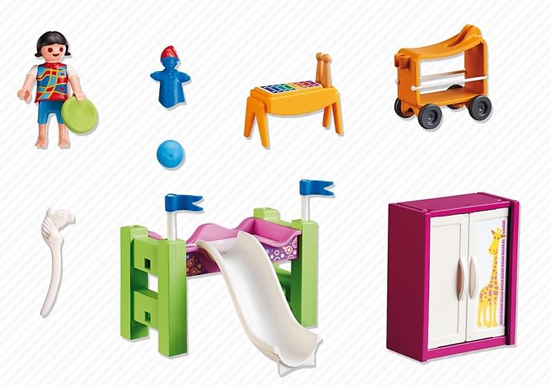 Chambre Moderne Playmobil : City life playmobil chambre d enfant avec lit mezzanine