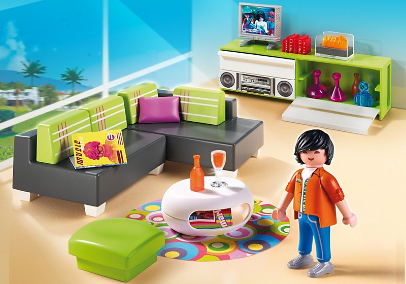 Playmobil 5584 salon moderne for La maison contemporaine meubles