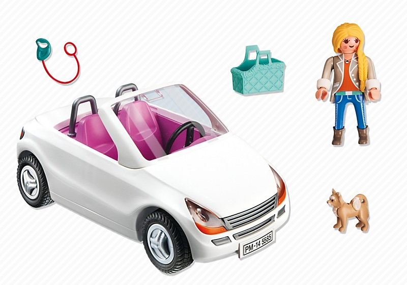 voiture cabriolet chic 5585 playmobil maison city life. Black Bedroom Furniture Sets. Home Design Ideas