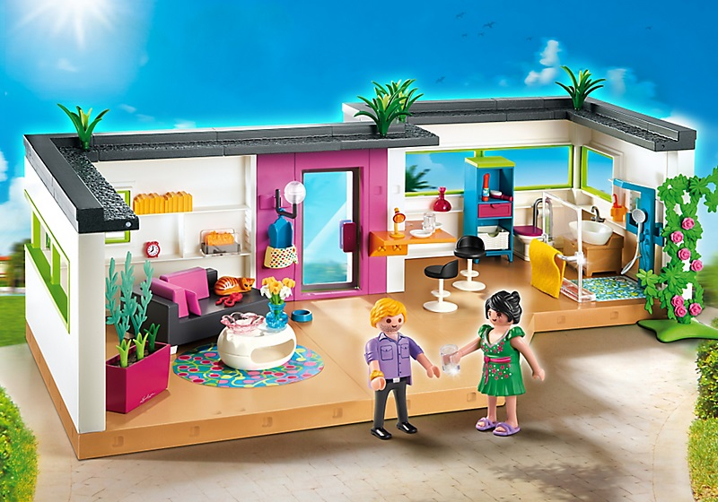 Studio des invit s 5586 playmobil villa moderne de luxe for Salle a manger playmobil city life