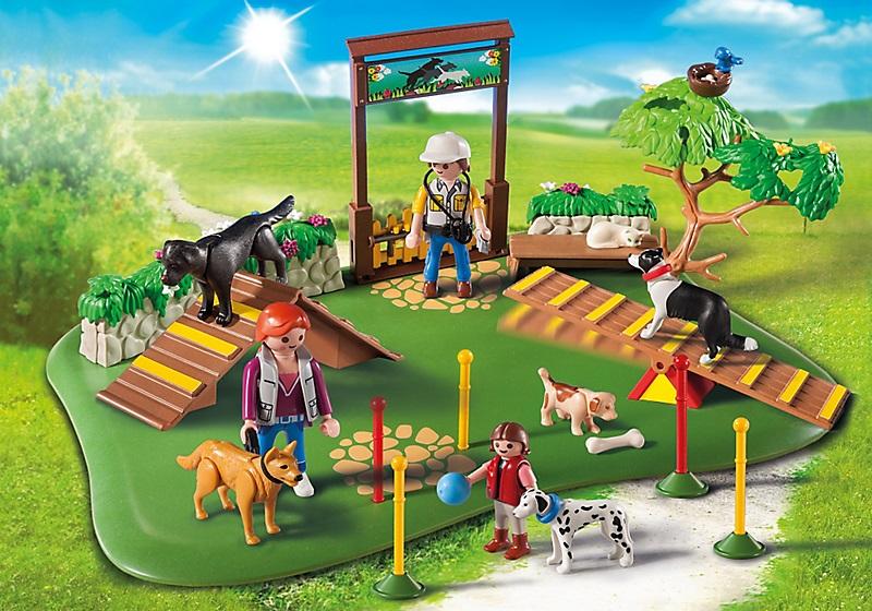 art playmobil city life  superset centre de dressage pour chiens