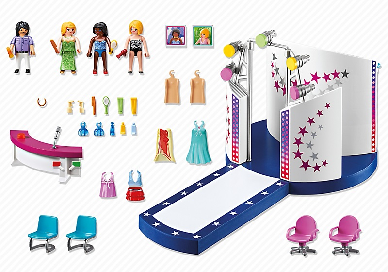 art playmobil city life  podium pour casting de mode