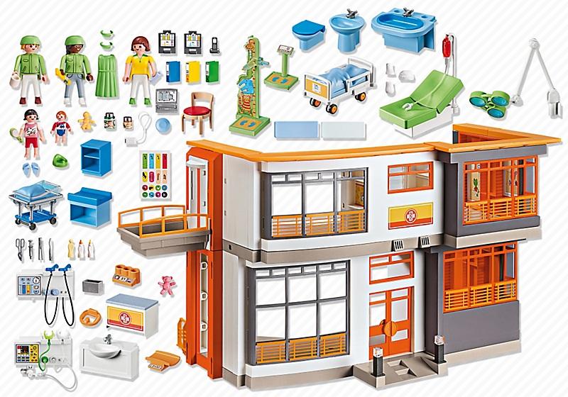 achat vente playmobil h pital p diatrique am nag 6657. Black Bedroom Furniture Sets. Home Design Ideas