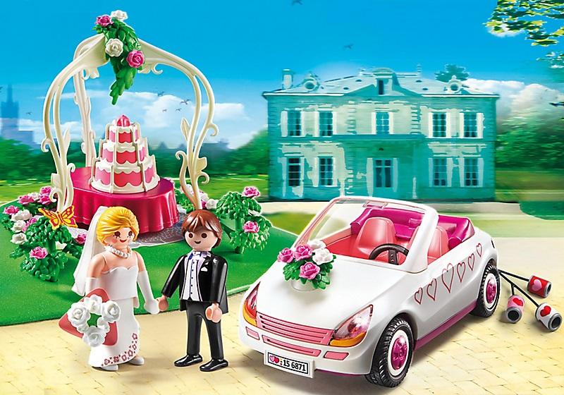 PLAYMOBIL CITY LIFE 6871 COUPLE DE MARIES AVEC VOITURE