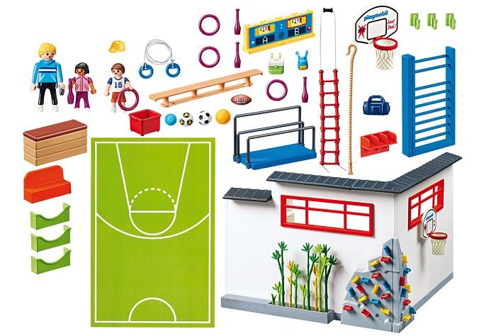 Coloriage Gymnase Ecole.Playmobil City Life Ecole 9454 Salle De Sports Gymnase