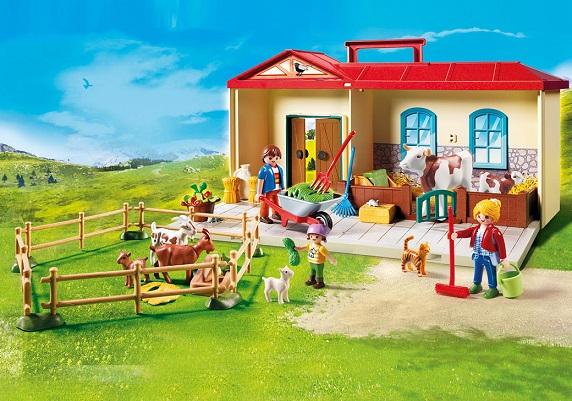 playmobil country 4897 ferme transportable jeux jouets. Black Bedroom Furniture Sets. Home Design Ideas