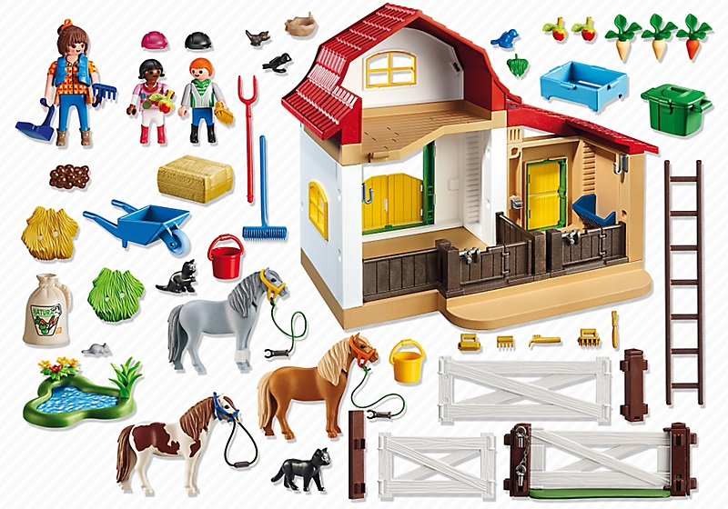 poney club playmobil 6927 centre questre jeux jouets. Black Bedroom Furniture Sets. Home Design Ideas