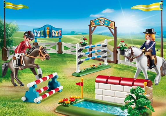 playmobil country 6930 parcours d obstacles hippiques. Black Bedroom Furniture Sets. Home Design Ideas
