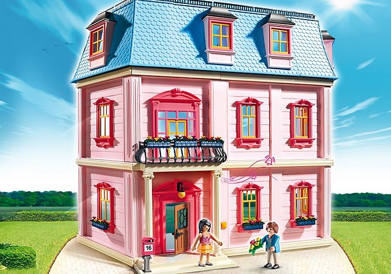 maison traditionnelle dollhouse jouet playmobil 5303. Black Bedroom Furniture Sets. Home Design Ideas