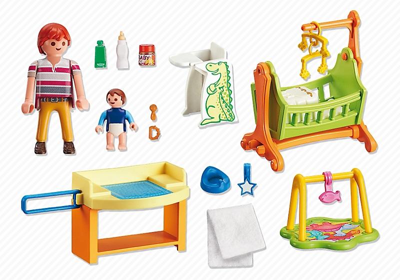 Playmobil maison 5304 chambre de b b avec berceau for Playmobil chambre bebe