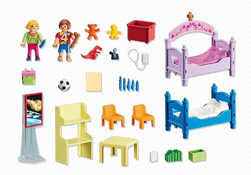 playmobil 5306 chambre des enfants avec lits d cor s. Black Bedroom Furniture Sets. Home Design Ideas