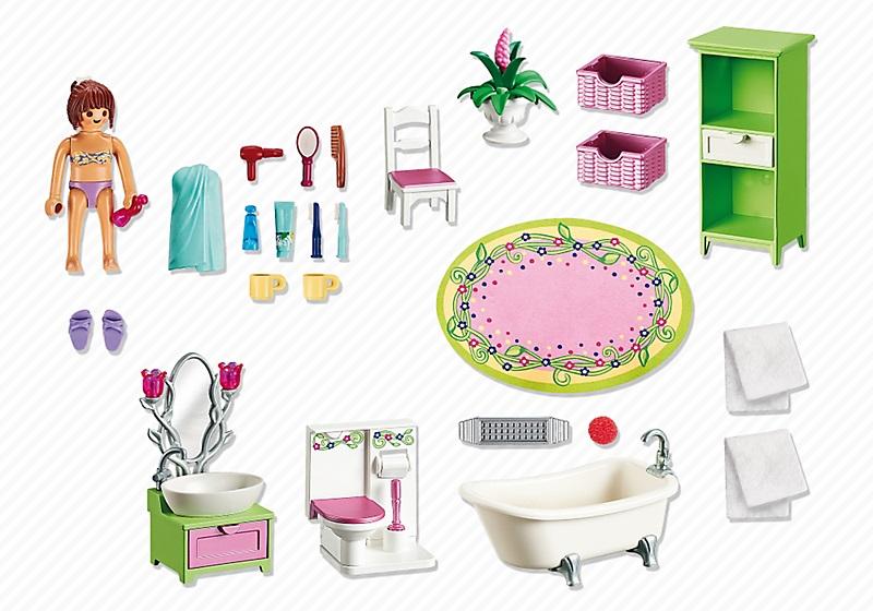 Playmobil salle de bains et baignoire 5307 petit prix for Salle de bain avec baignoire playmobil