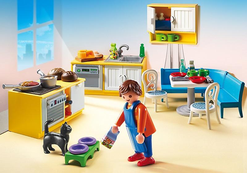 Playmobil maison 5336 cuisine quip e avec coin repas - Cuisine avec coin repas ...