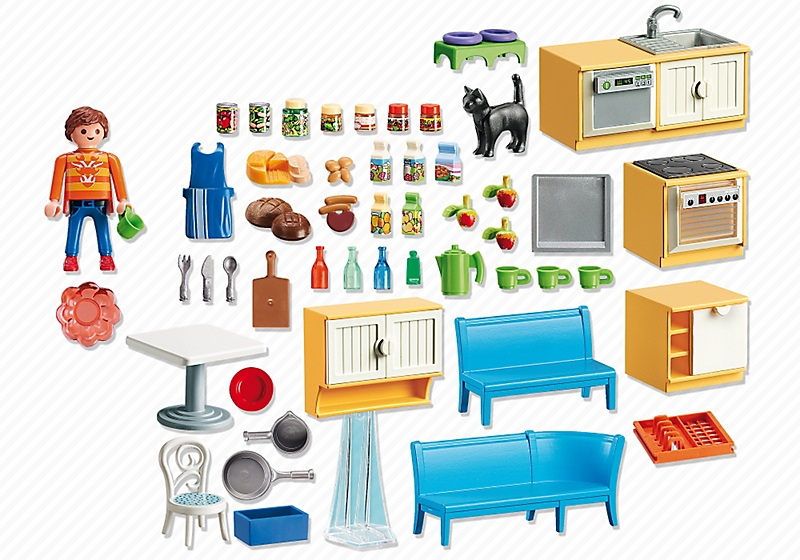 playmobil maison 5336 cuisine quip e avec coin repas. Black Bedroom Furniture Sets. Home Design Ideas