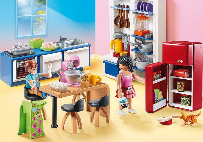 Playmobil Dollhouse 70206 Cuisine Familiale Achat Prix