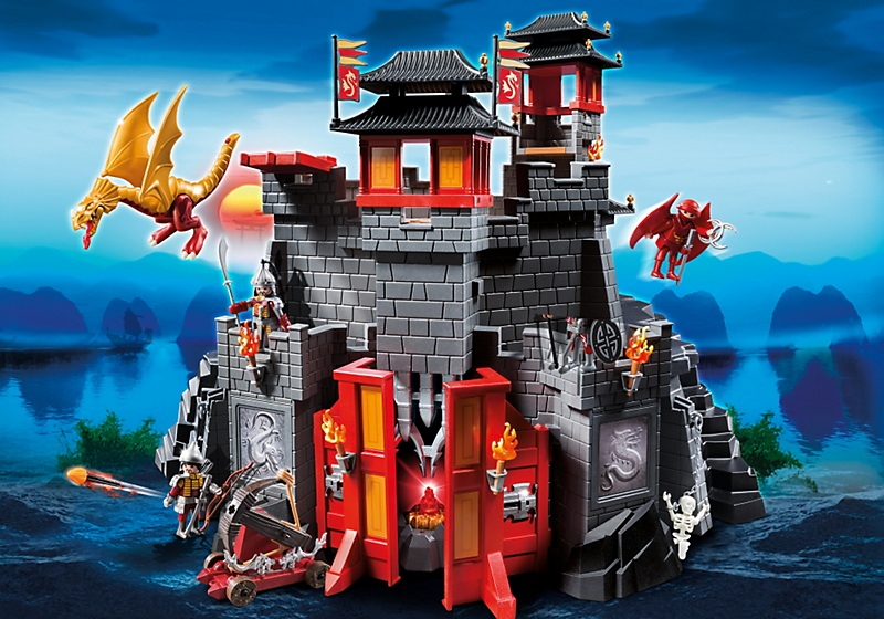 forteresse imp riale du dragon asiatique ch teau playmobil 5479. Black Bedroom Furniture Sets. Home Design Ideas