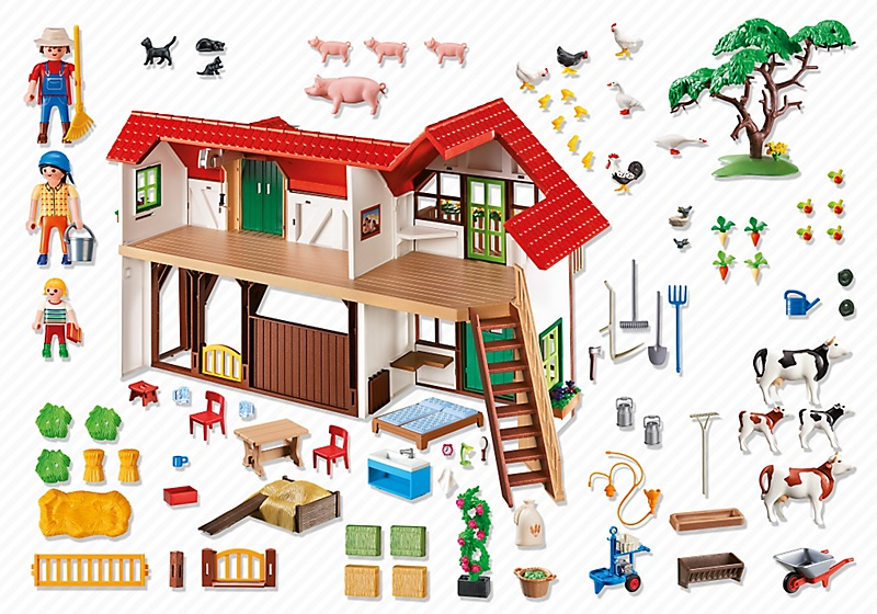 achat playmobil country 6120 grande ferme nouveaut. Black Bedroom Furniture Sets. Home Design Ideas