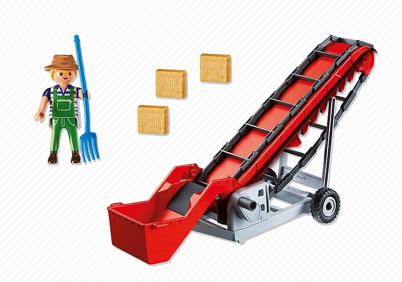 Playmobil Ferme 6132 Convoyeur à foin  CavernedesJouets