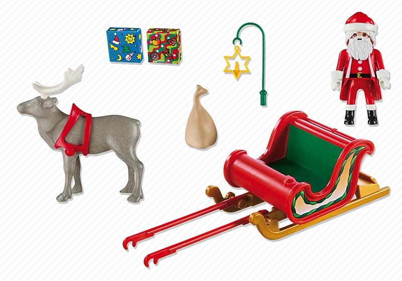 p re no l avec tra neau playmobil christmas 5590. Black Bedroom Furniture Sets. Home Design Ideas