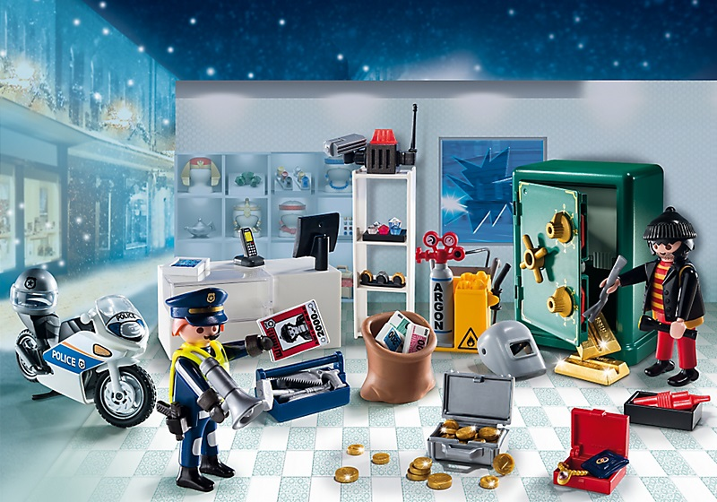 playmobil 9007 calendrier avent policier et cambrioleur. Black Bedroom Furniture Sets. Home Design Ideas
