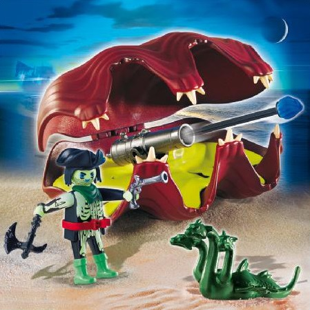 Playmobil 4802 pirate fant me et coquillage canons - Playmobil pirate fantome ...