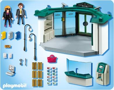 5177 banque avec distributeur de billets de playmobil. Black Bedroom Furniture Sets. Home Design Ideas