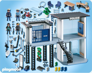 playmobil police playmobil 5182 achat commissariat. Black Bedroom Furniture Sets. Home Design Ideas