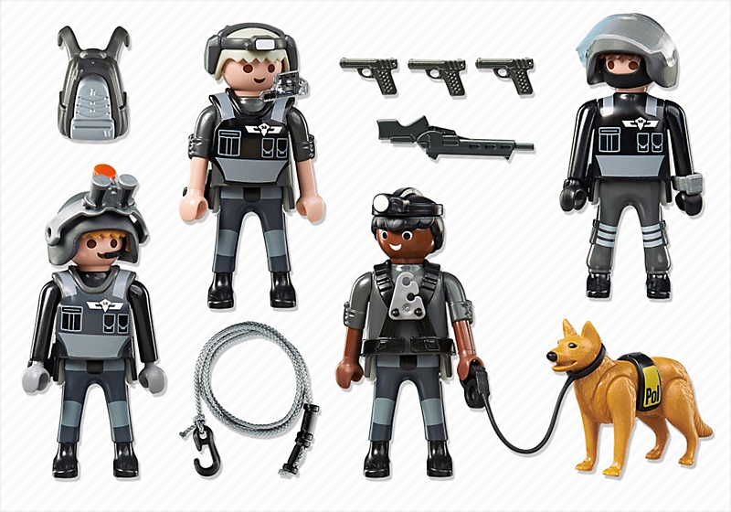 playmobil police city action 5565 commando des forces speciales