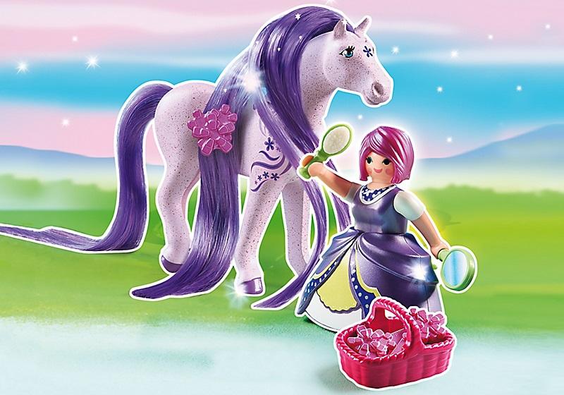 Achat vente playmobil 6167 princesse violette et cheval - Princesse cheval ...