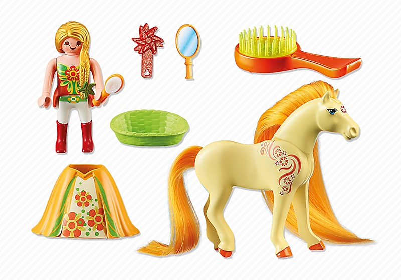 playmobil princesse 6168 princesse mimosa avec cheval a coiffer - Playmobil Chambres Princesses