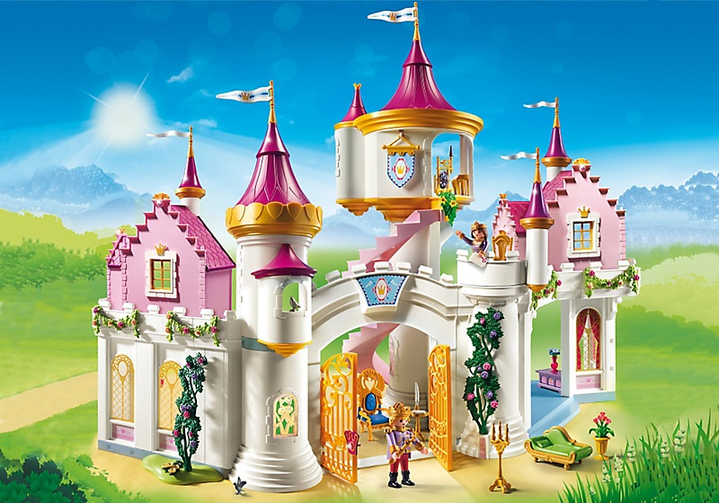 Grand ch teau de princesse playmobil 6848 nouveaut 2017 for Image chateau princesse