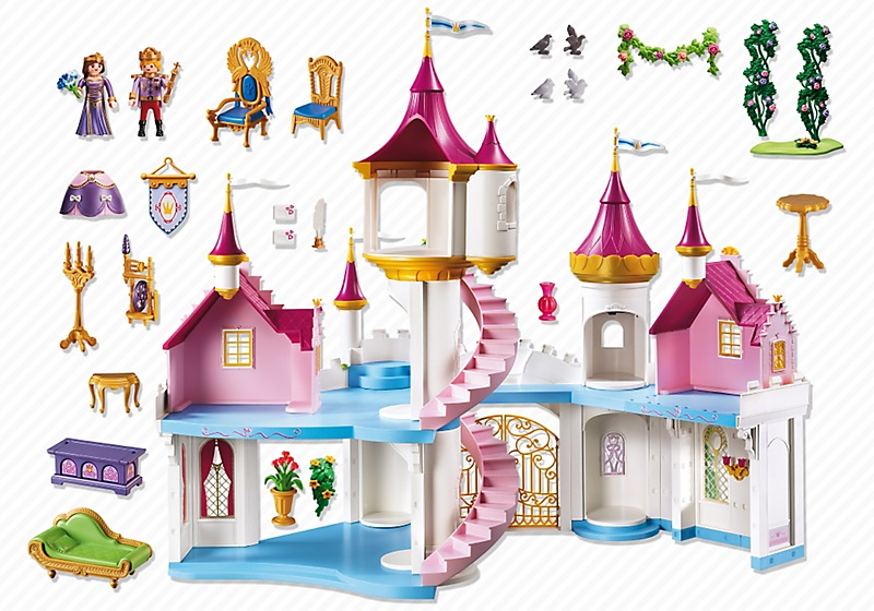 grand ch teau de princesse playmobil 6848 nouveaut 2017. Black Bedroom Furniture Sets. Home Design Ideas