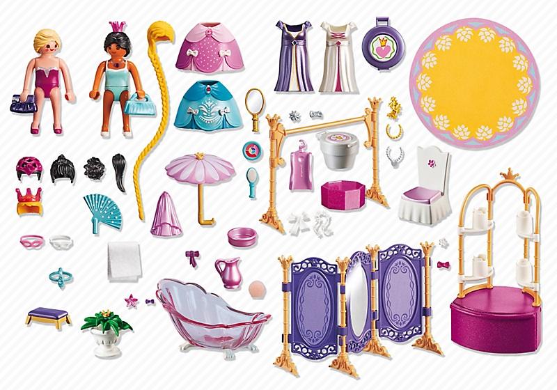 6850 salon de beaut avec princesses playmobil ch teau - Playmobil princesse chateau ...