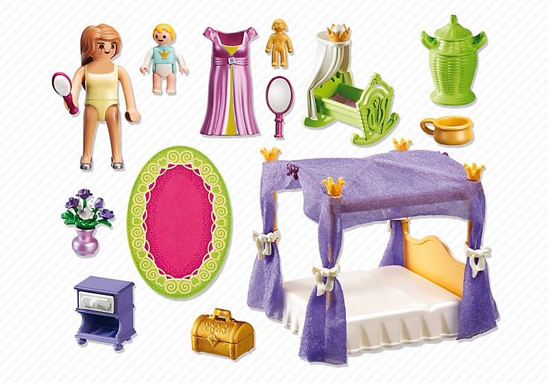 Playmobil 6851 - Chambre de la reine avec lit à baldaquin