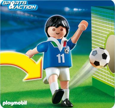 playmobil sportifs 4712 joueur de football equipe italie