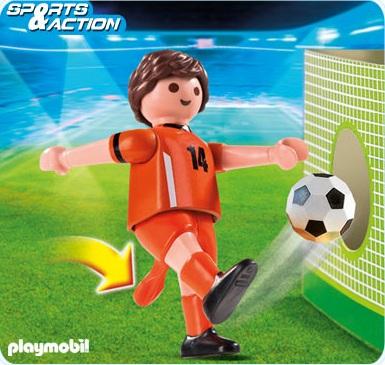 art playmobil sportifs  joueur de football equipe pays bas