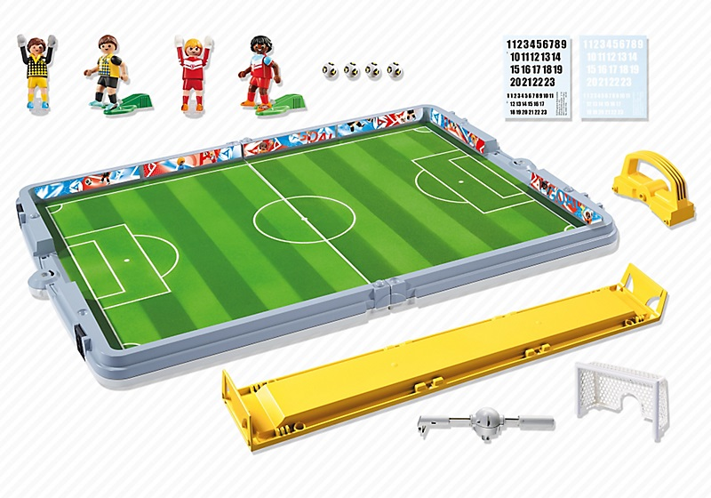 art playmobil sports action  terrain de football transportable
