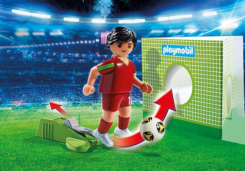 art playmobil sports action  joueur de foot portugais