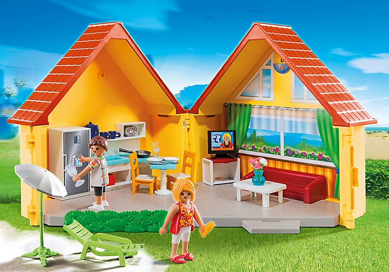 acheter playmobil maison de vacances transportable 6020. Black Bedroom Furniture Sets. Home Design Ideas