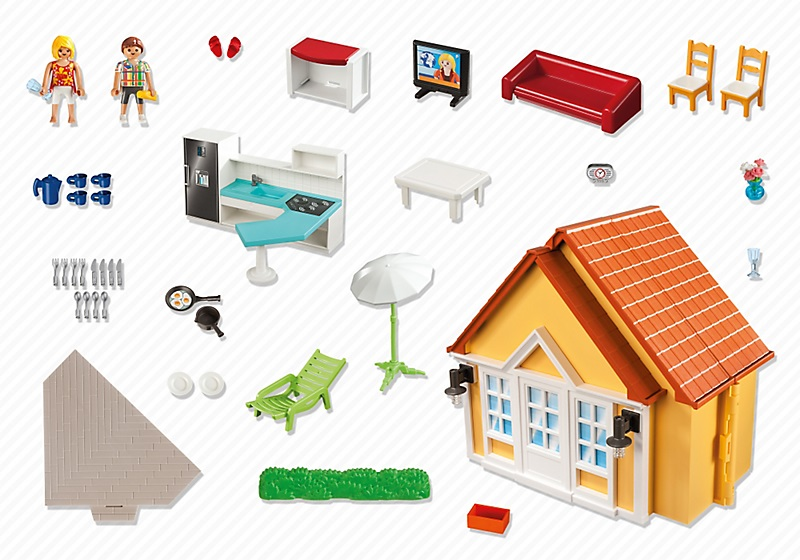 Acheter playmobil maison de vacances transportable 6020 for Casa maletin playmobil
