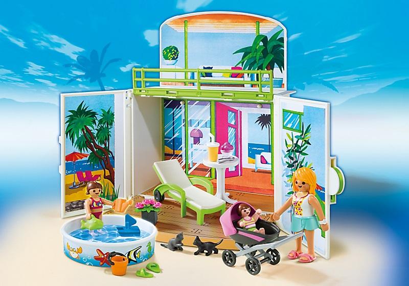 6159 Terrasse de vacances Playmobil : King Jouet, Playmobil Playmobil  Jeux