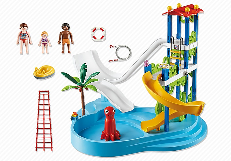 playmobil 6669 parc aquatique avec toboggans g ants