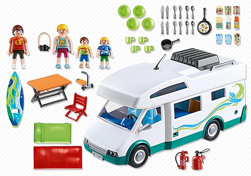 6671 famille avec camping car de playmobil - Camping car playmobil pas cher ...