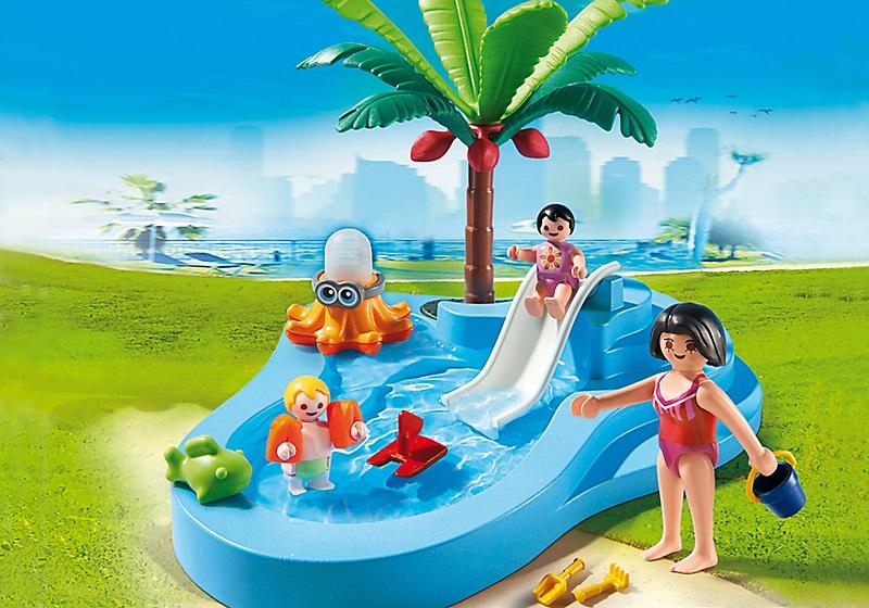 Acheter playmobil 6673 bassin pour b b s et mini toboggan for Piscine play mobile