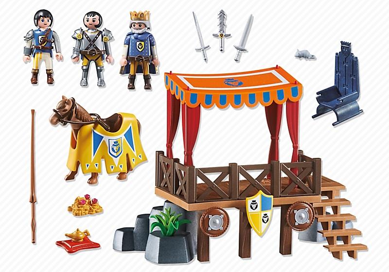 Playmobil 6695 : Super 4 : Tribune royale avec Alex  Jeux et jouets Playmobil