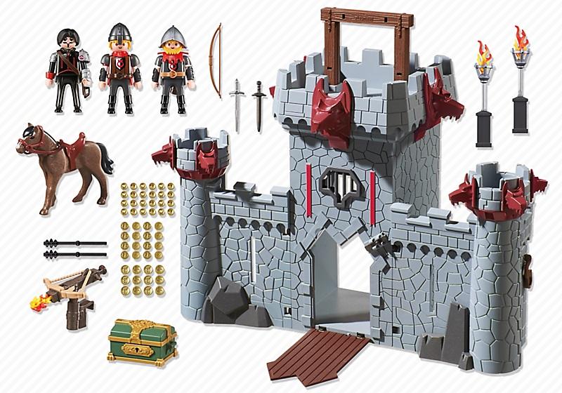 6697 Citadelle transportable du Baron Noir Playmobil : King Jouet, Playmobil