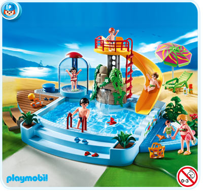 Playmobil rfrence 4858 piscine for Playmobil piscine avec terrasse