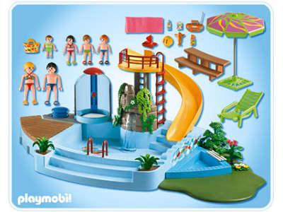 Playmobil rfrence 4858 piscine for Piscine avec terrasse playmobil