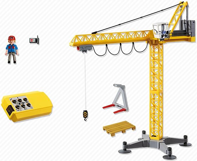 Grande grue de chantier commande infrarouge playmobil 5466 city - Jeux de grue de chantier ...