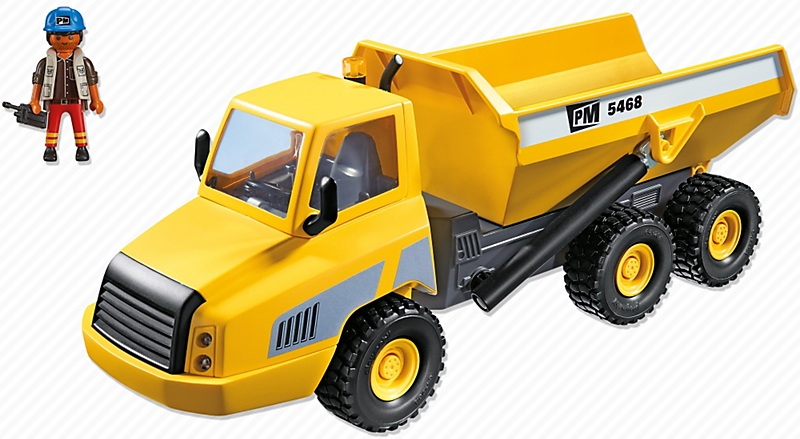 Grand camion benne basculante 5468 playmobil chantier for Pelleteuse jouet exterieur